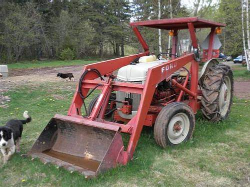 Old Ford Backhoe : Old ford tractors